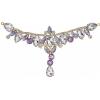 Crystal Motifs T-shape 17x8.5cm Amethyst Aurora Borealis/gold